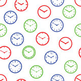 Watch dial color seamless pattern eps10 Stock Photo