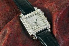Watch with diamonds Royalty Free Stock Photo