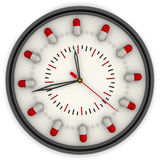 The watch for the drug intake Royalty Free Stock Images