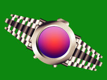 Watch - easy crop. A watch with green background for easy crop Royalty Free Stock Images
