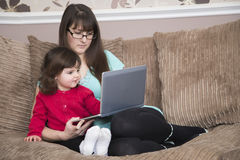 Watch educational videos on-line Stock Photography