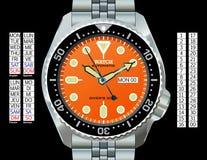 watch för dykare s Royaltyfri Illustrationer