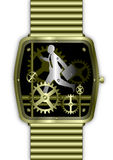 watch för running tid för affärsmanguld Arkivfoton