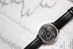 watch för stearinljusdiagramstick Fotografering för Bildbyråer