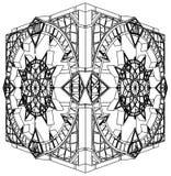 watch för vektor för abstrakt kub för klocka 02 gotisk Arkivbilder