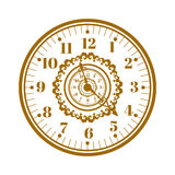 Watch face antique clock vector illustration. Stock Photo