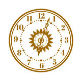 Watch face antique clock vector illustration. Royalty Free Stock Photos