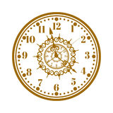 Watch face antique clock vector illustration. Stock Images