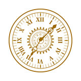 Watch face antique clock vector illustration. Stock Photos