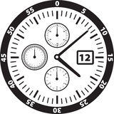 Watch Face Illustration Royalty Free Stock Photos