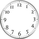 Watch face. Large watch face with numerals, without watch hands Royalty Free Stock Photo