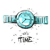 Watch fashion illustration sketch vector Royalty Free Stock Photo