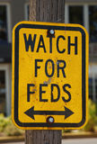 Watch for Feds Stock Photos
