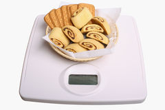 Watch a figure. Cookies on the device for measurement of weight Stock Photos