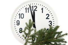 Watch with fir branch Royalty Free Stock Photo