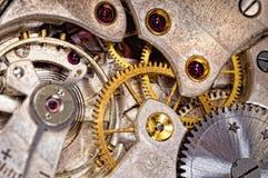 Watch Gears. Closeup of the interlocking gears Stock Photography