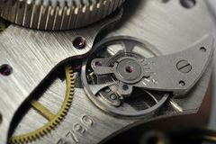 Watch gears close up Stock Photography