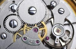 Watch gears close up Royalty Free Stock Photo