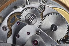 Watch gears close up Royalty Free Stock Image