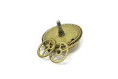 Watch gears made of brass Royalty Free Stock Images