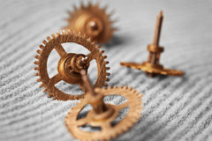 Watch gears on sand - abstract still life Stock Images