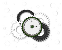 Watch with gears Stock Image