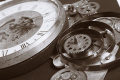 Watch gears very close up Royalty Free Stock Photos