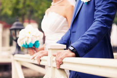 Watch of the groom Royalty Free Stock Images