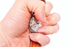 Watch in hand Royalty Free Stock Image