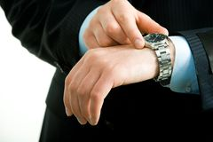 Watch on hand Royalty Free Stock Image