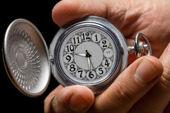 Watch in hand. Royalty Free Stock Photos