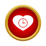 Watch heart icon, simple style Stock Image