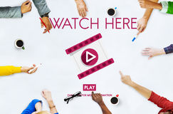 Watch Here Application Display Video Concept Royalty Free Stock Image