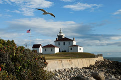Watch Hill Lighthouse in Westerly, Rhode island Stock Images