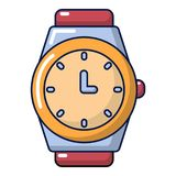 Watch icon, cartoon style. Watch icon. Cartoon illustration of watch vector icon for web design stock illustration