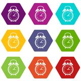 Watch icon set color hexahedron Royalty Free Stock Photo