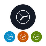 Watch icon, wall clock icon,  vector illustration Royalty Free Stock Photography