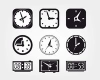 Watch icons Royalty Free Stock Images