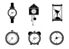 Watch icons. Royalty Free Stock Image