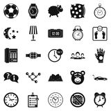 Watch icons set, simple style Royalty Free Stock Images