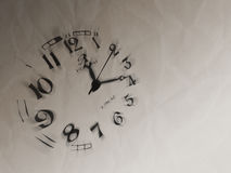 Watch illustration. Time is gold royalty free illustration
