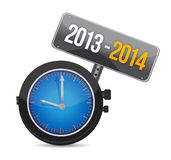 2013 2014 watch illustration design Stock Photos