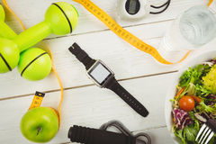 Watch with indicators of healthy lifestyle Royalty Free Stock Photos