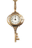 Watch key on a chain Royalty Free Stock Image