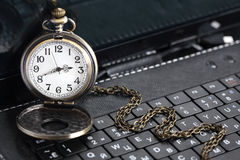 Watch On Keyboard Stock Images