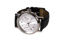 Watch with Leather Strap. Royalty Free Stock Photography