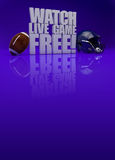Watch live game 3D text - american football background. Watch live game free! - American football background with space royalty free illustration