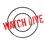 Watch Live rubber stamp Royalty Free Stock Image