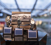 Watch. Luxurious collection of watch on its holder royalty free stock photography