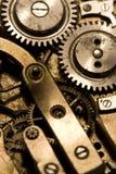 Watch mechanism. Internal mechanism of pocket watch stock image